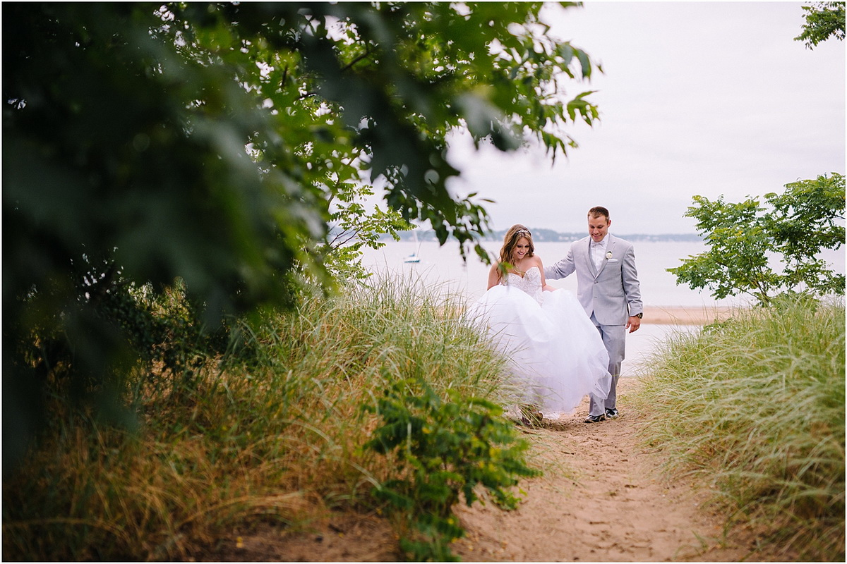 Tupper Manor bride groom on beach
