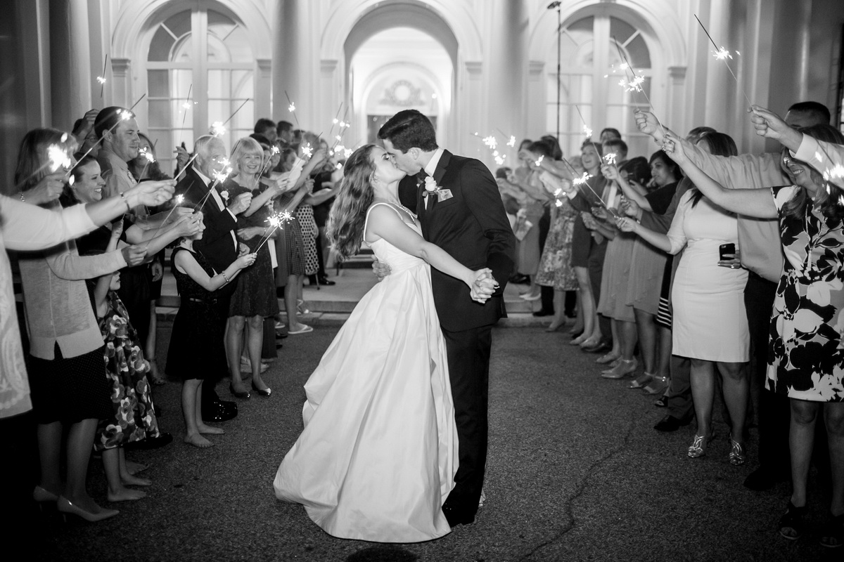 Tupper Manor b&w photo bride groom dancing