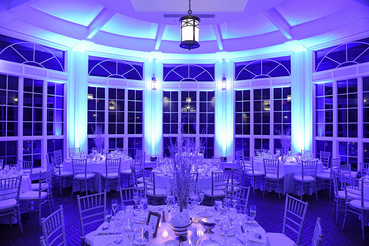 Tupper Manor purple wedding setting